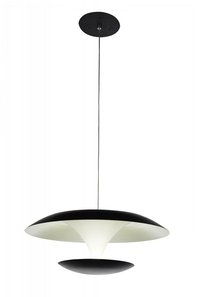 LED Black & White Down Pendant from our Aviva collection