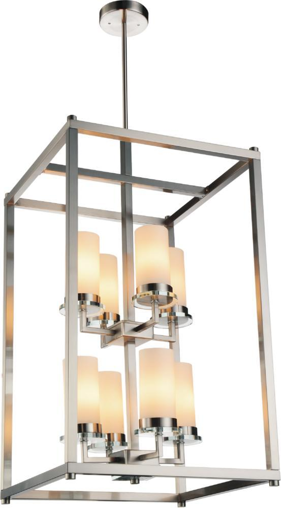 8 Light Satin Nickel Candle Chandelier from our Margie collection
