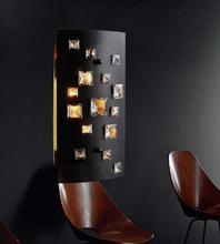 Crystal World 5116W7B - 2 Light Black Wall Light from our Shadow collection