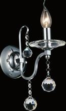 Crystal World 5507W5C-1 - 1 Light Chrome Wall Light from our Valentina collection