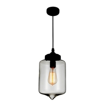 Crystal World 5570P7C - Smoke - 1 Light Black Down Mini Pendant from our Glass collection