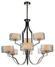 Crystal World 9810P37-9-601 - 9 Light Chrome Drum Shade Chandelier from our Lorri collection