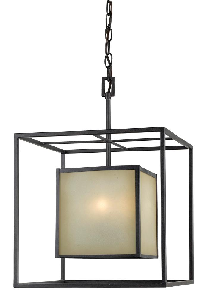 Hilden Collection 4 Light Aged Bronze Hanging Pendant