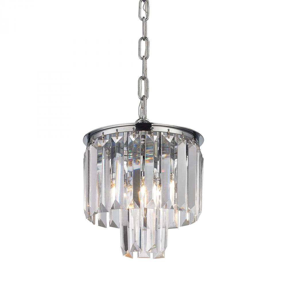 Palacial 1 Light Pendant In Polished Chrome