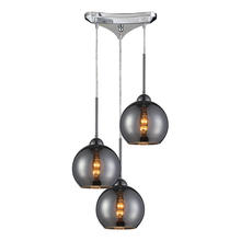 ELK Lighting 10240/3CHR - Cassandra 3 Light Pendant In Polished Chrome