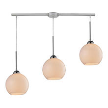 ELK Lighting 10240/3L-WH - Cassandra 3 Light Pendant In Polished Chrome