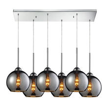 ELK Lighting 10240/6RC-CHR - Cassandra 6 Light Pendant In Polished Chrome