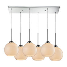 ELK Lighting 10240/6RC-WH - Cassandra 6 Light Pendant In Polished Chrome